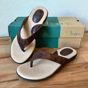 b.o.c. Cadore Brown Thong Sandals